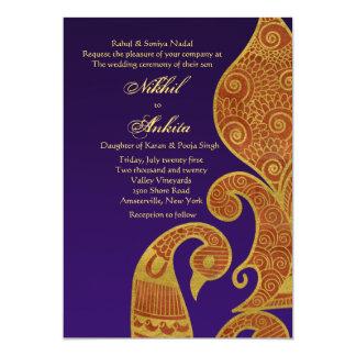 The Burnt Sun Swan Wedding Invitation