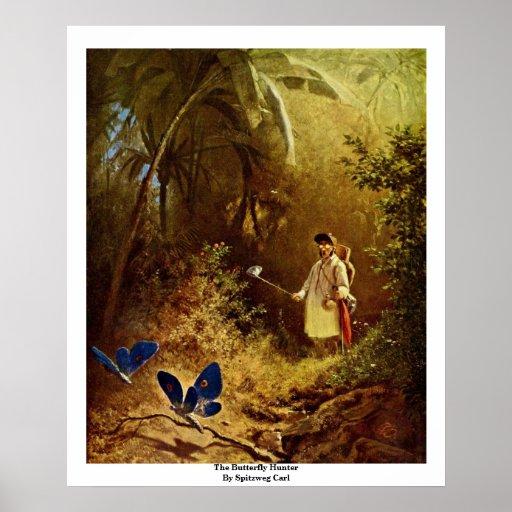 The Butterfly Hunter By Spitzweg Carl Poster