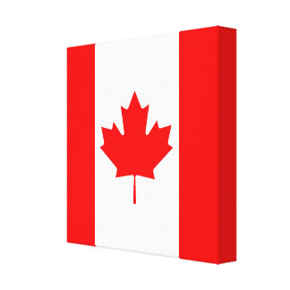 The Canadian Flag, Canada Canvas Print
