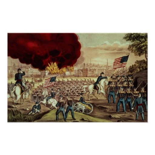 The Capture of Atlanta by the Union Army Print