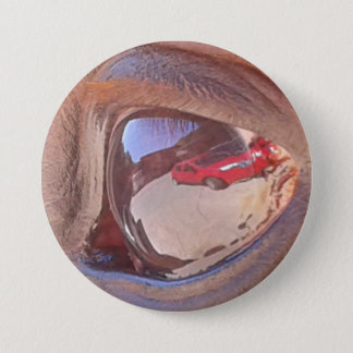 The car always in the view 7.5 cm round badge
