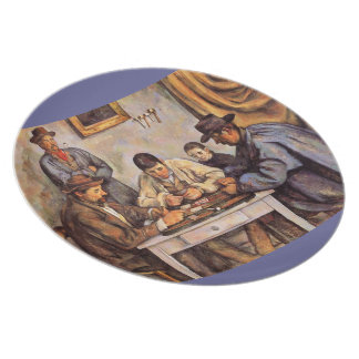 The Card Players by Paul Cezanne Plate