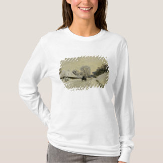 The Cart, or Road under Snow at Honfleur, 1865 T-Shirt