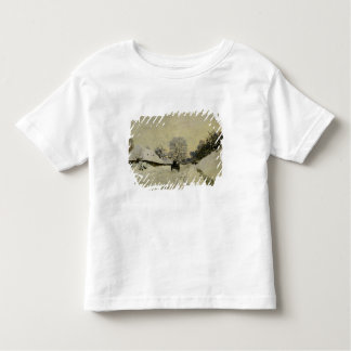 The Cart, or Road under Snow at Honfleur, 1865 Toddler T-Shirt