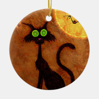 The cat of Halloween - Christmas Ornament