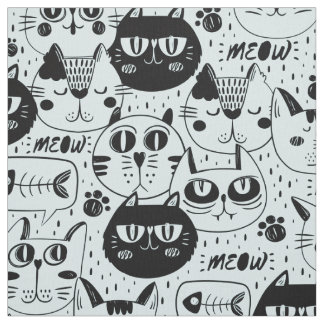 The Cats Meow Black ID480 Fabric
