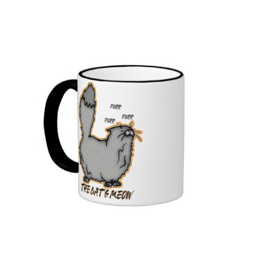 The Cat's Meow Gift Mug, Cute Snooty Cat