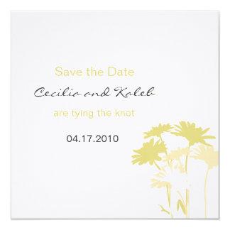 The Cecilia Save the Date 13 Cm X 13 Cm Square Invitation Card