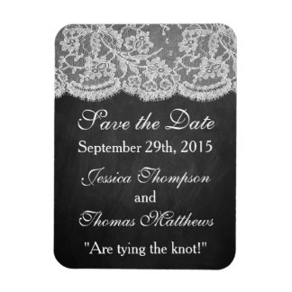 The Chalkboard & Lace Wedding Collection Rectangular Photo Magnet