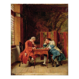 The Chess Players 1856 Posters