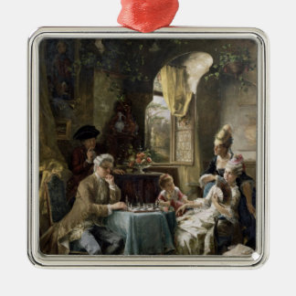The Chess Players, 1887 2 Christmas Ornament