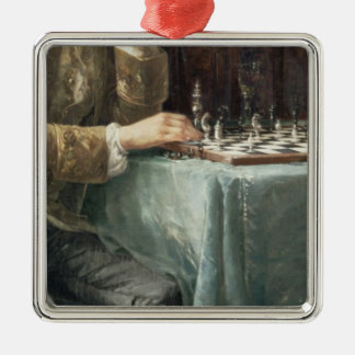The Chess Players, 1887 Christmas Ornament