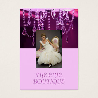 THE Chic Boutique purple chandelier Business Card