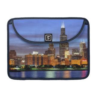 The Chicago skyline from the Adler Planetarium Sleeve For MacBooks