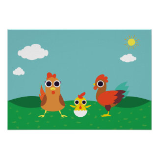 The Chicken Family at Daytime Poster