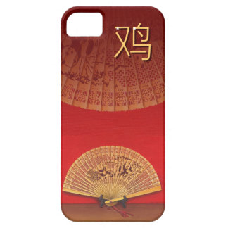 "The Chinese fan - Zodiac sign ""rooster, 鸡"" Barely There iPhone 5 Case"