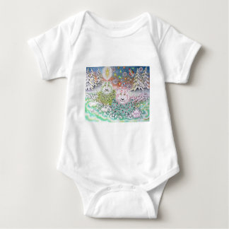 The Chirstmas Tigers Baby Bodysuit