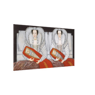 The Cholmondeley Ladies Vintage Fine Art Painting Stretched Canvas Prints