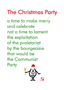the christmas party a funny christmas poem holiday card - Funny Christmas Poem