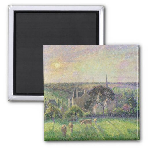 The Church and Farm of Eragny, 1895 Magnet