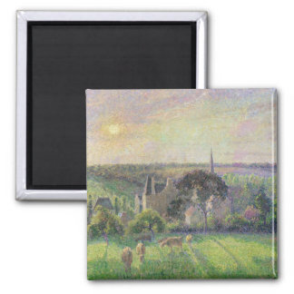 The Church and Farm of Eragny, 1895 Square Magnet