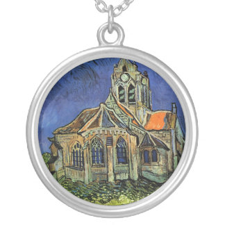 The Church at Auvers by Vincent van Gogh Silver Plated Necklace