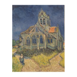 The Church at Auvers-sur-Oise Wood Prints