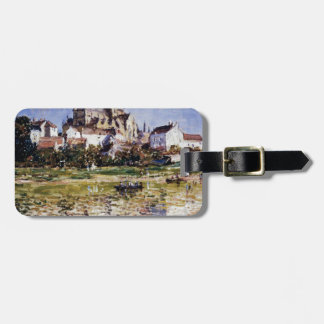 The Church At Vetheuil by Claude Monet Luggage Tag
