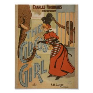 The Circus Girl, 'A.H.Canby' Vintage Theater Posters