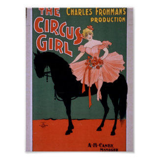 The Circus Girl Vintage Theater Poster