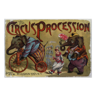 The Circus Procession Vintage Poster