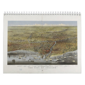 The City of Chicago Illinois from 1874 Wall Calendars