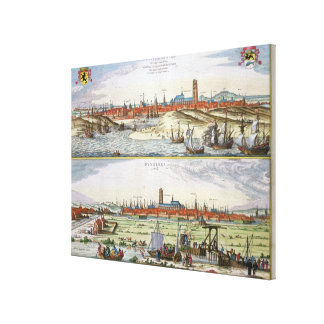 The City of Dunkirk during the Spanish occupation, Canvas Print