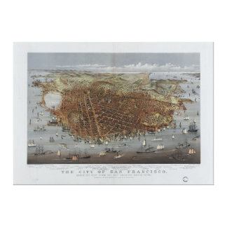 The City of San Francisco California from 1878 Canvas Print