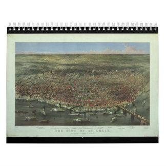 The City of St. Louis Missouri from 1874 Calendars