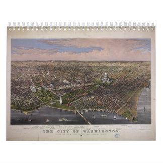 The City of Washington D.C. from 1880 Wall Calendar