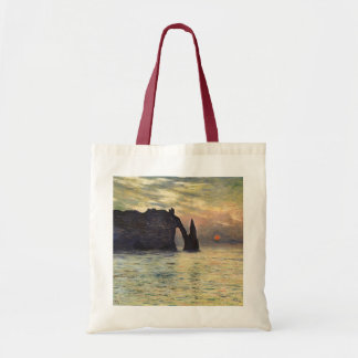 The Cliff, Etretat, Sunset by Claude Monet Tote Bag