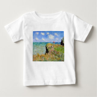 The cliff of Pourville of Claude Monet Baby T-Shirt