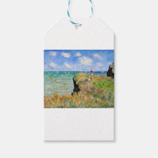 The cliff of Pourville of Claude Monet Gift Tags