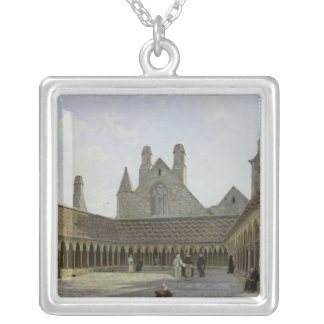 The Cloister of Mont Saint-Michel Silver Plated Necklace