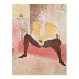 The Clowness Cha-U-Kao Seated, 1896 Postcard