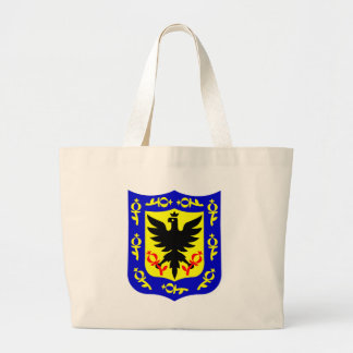 The coat of arms of Bogota, Colombia. Large Tote Bag