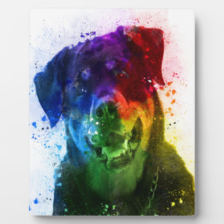 The Colors of Love are a Rottweiler Plaque