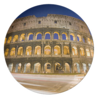 the Colosseum ampitheatre illuminated at night 2 Plate