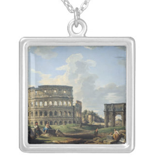The Colosseum and the Arch of Constantine Silver Plated Necklace