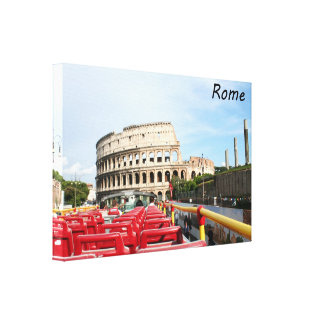 The Colosseum in Rome Gallery Wrapped Canvas