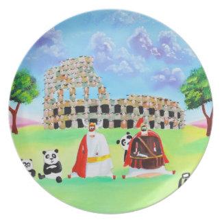 the colosseum made of sheep Gordon Bruce art Plate