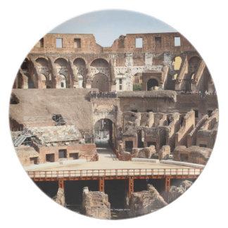 The Colosseum or Roman Coliseum, originally Plate
