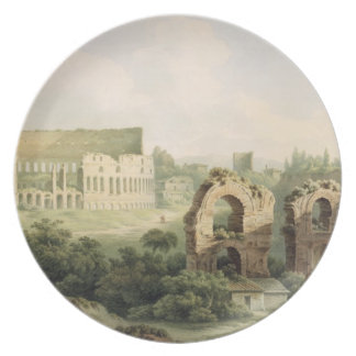 The Colosseum, Rome, 1802 (w/c over graphite on wo Plate