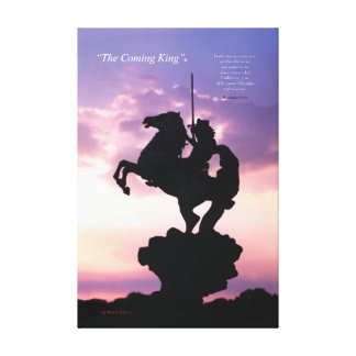 """The Coming King""® Silouette Canvas Print"